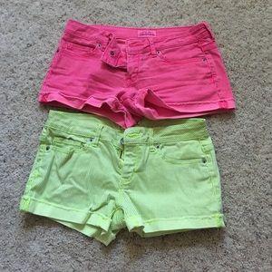2 Pairs of Neon Shorts!